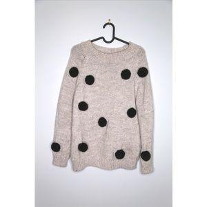Zara Size S Oversized Pom Pom Sweater
